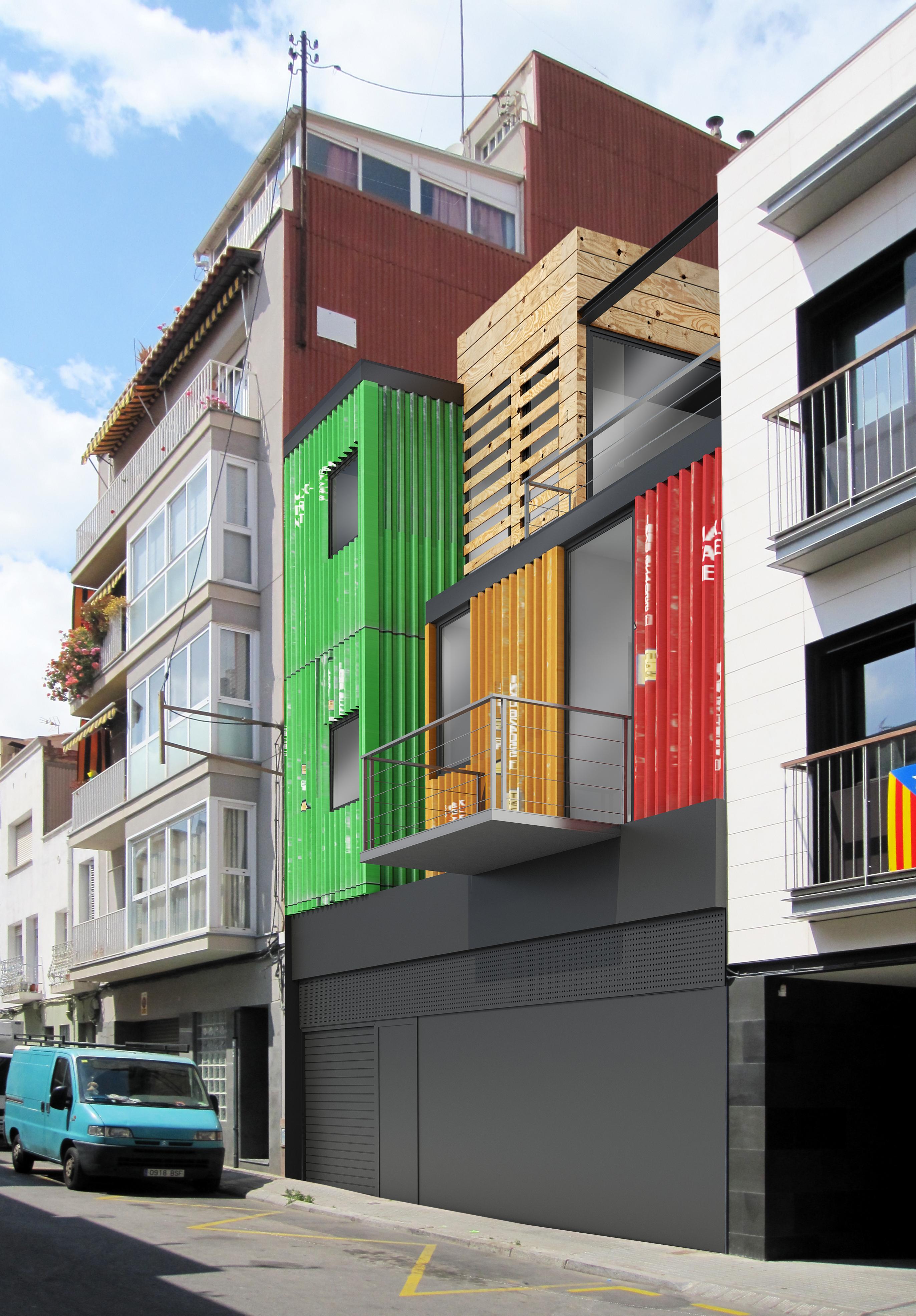 3dviz vivienda unifamiliar entre medianeras 3dviz - Vivienda unifamiliar entre medianeras ...